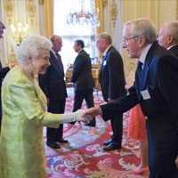 Evans' Visit to Buckingham Palace